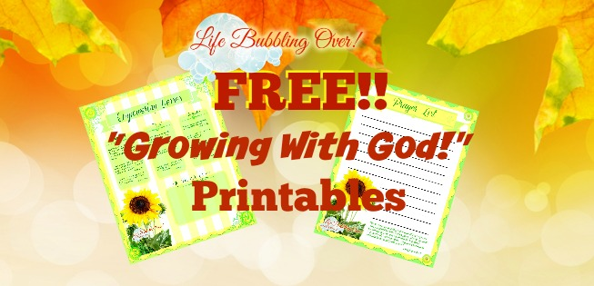 Free Printables Growing With God