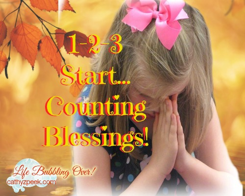 1-2-3… Start Counting Blessings!